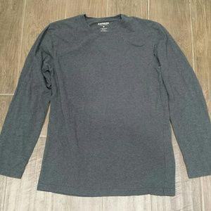 Express Gray long sleeve shirt